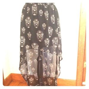 H & M |Sugar skull |sheer skirt